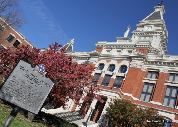 The historic Montgomery County Courthouse in Clarksville, Tenn.