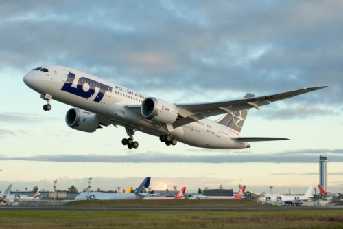 LOT POLISH AIRLINES CHICAGO TO WARSAW