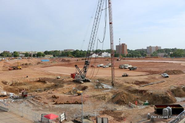 Construction progresses on new Atlanta Falcons stadium
