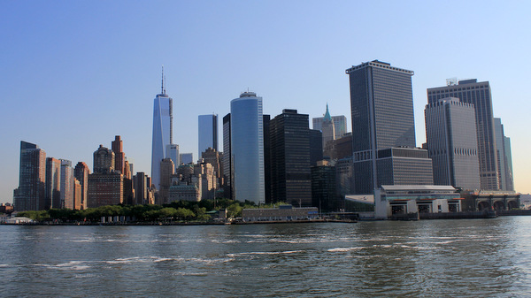 New York City Skyline From the Staten Island Ferry