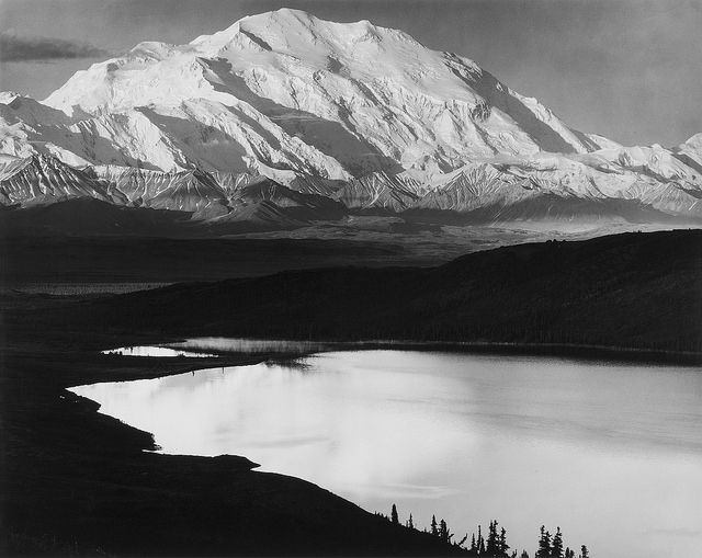 Sunrise, Mount McKinley. Mount McKinley National Park, Alaska